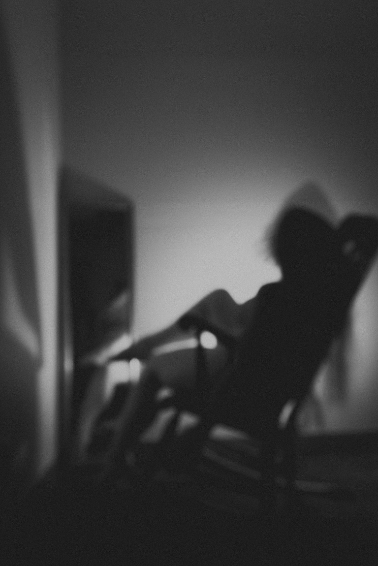 black and white photography, looks like film, long exposure, intentional blur, self portrait, self portrait photography, fort wayne, indiana